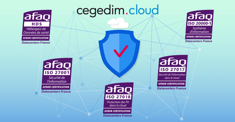 cegedim.cloud obtient de nouvelles certifications : Hébergeur de Données de Santé HDS et ISO 20000-1 : 2018