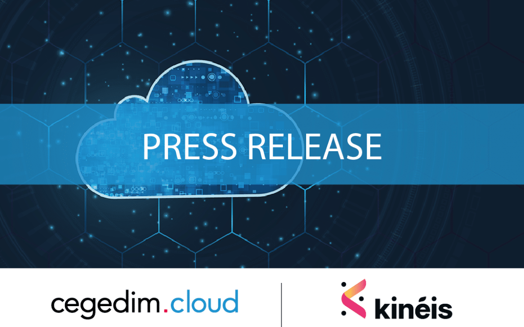 cegedim.cloud announces an innovative partnership with Kinéis to host all IT infrastructure for the first European nanosatellite constellation dedicated to the internet of things